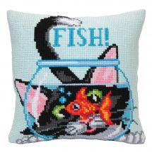 Kit de coussin gros trous - Collection d'Art - Attraper le poisson