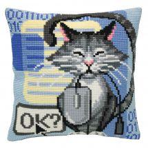 Kit de coussin gros trous - Collection d'Art - Chat et souris