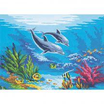 Canevas Pénélope  - Collection d'Art - Les dauphins