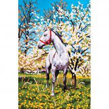Canevas Pénélope  - Collection d'Art - Cheval blanc