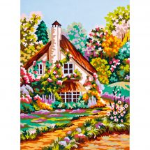 Canevas Pénélope  - Collection d'Art - Le cottage fleuri