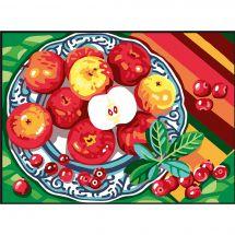 Canevas Pénélope  - Collection d'Art - Assiette de fruits