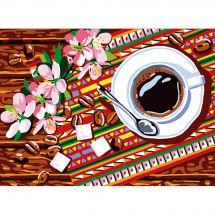 Canevas Pénélope  - Collection d'Art - L'heure du café
