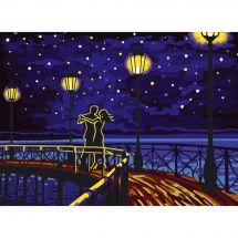 Canevas Pénélope  - Collection d'Art - Couple de danseur nocturne