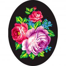 Canevas Pénélope  - Collection d'Art - Bouquet de roses