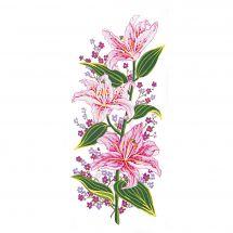Canevas Pénélope  - Collection d'Art - Lys et fleurs mauves