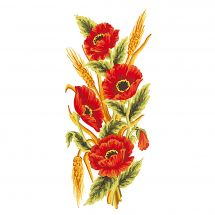 Canevas Pénélope  - Collection d'Art - Coquelicots et épis de blé