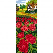 Canevas Pénélope  - Collection d'Art - Buisson de roses