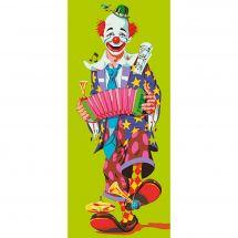 Canevas Pénélope  - Collection d'Art - Clown à l accordéon