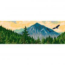 Canevas Pénélope  - Collection d'Art - La montagne