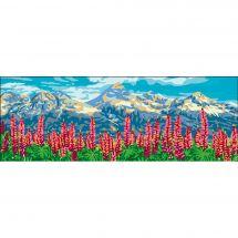 Canevas Pénélope  - Collection d'Art - Les digitales au pied de la montagne
