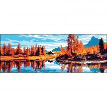 Canevas Pénélope  - Collection d'Art - La cabane au bord de la rivière