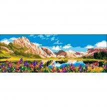 Canevas Pénélope  - Collection d'Art - Les montagnes