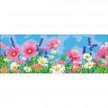 Canevas Pénélope  - Collection d'Art - Champ de fleurs