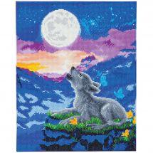 Kit de broderie Diamant sur châssis - Crystal Art D.I.Y - Club des loups hurlants