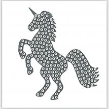 Sticker broderie Diamant - Crystal Art D.I.Y - Autocollant - Licorne
