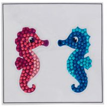 Sticker broderie Diamant - Crystal Art D.I.Y - Autocollant- Couple d'hippocampes