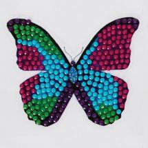 Sticker broderie Diamant - Crystal Art D.I.Y - Autocollant - Papillon disco