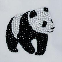 Sticker broderie Diamant - Crystal Art D.I.Y - Autocollant - Panda