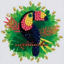 Sticker broderie Diamant - Crystal Art D.I.Y - Autocollant -Toucan