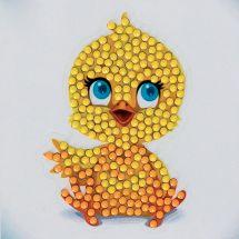 Sticker broderie Diamant - Crystal Art D.I.Y - Autocollant - Poussin