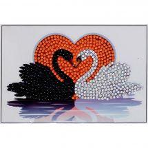Sticker broderie Diamant - Crystal Art D.I.Y - Autocollant - Baiser des cygnes