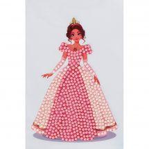 Sticker broderie Diamant - Crystal Art D.I.Y - Autocollant - Princesse rose