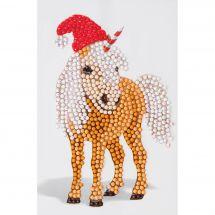 Sticker broderie Diamant - Crystal Art D.I.Y - Autocollant - Cheval de Noël