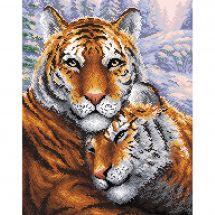 Kit de broderie Diamant - RTO - Couple de tigres
