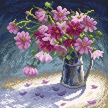 Kit de broderie Diamant - RTO - Bouquet de fleurs roses