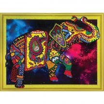 Support carton broderie Diamant - RTO - Etoile d'éléphant