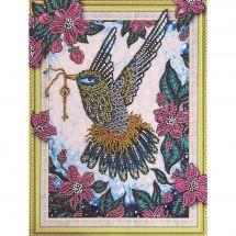 Support carton broderie Diamant - RTO - Joli colibri
