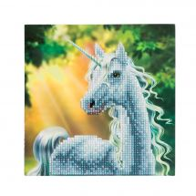 Carte broderie Diamant - Crystal Art D.I.Y - Licorne