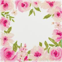 Carte broderie Diamant - Crystal Art D.I.Y - Jolies roses
