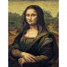 Kit point de croix - Charivna Mit - Mona Lisa d'après Léonard de Vinci
