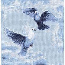 Kit point de croix - Charivna Mit - Pigeons