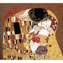 Kit point de croix avec perles - Charivna Mit - Le baiser de Klimt