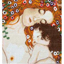 Kit point de croix avec perles - Charivna Mit - Les trois âges de la femme de Klimt
