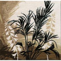Kit point de croix - Charivna Mit - Feuilles de palmier I
