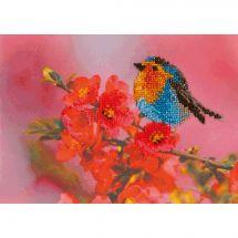 Kit de broderie avec perles - Charivna Mit - Élégant petit oiseau
