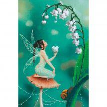 Kit de broderie avec perles - Charivna Mit - La fée du muguet