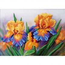 Kit de broderie avec perles - Charivna Mit - Iris de jardin