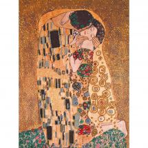 Kit de broderie avec perles - Charivna Mit - Le baiser de Klimt