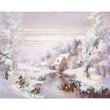 Kit de broderie avec perles - Charivna Mit - Le moulin en hiver