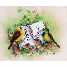 Kit de broderie avec perles - Charivna Mit - Oiseaux chanteurs
