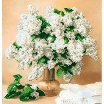 Kit de broderie avec perles - Charivna Mit - Lilas blancs