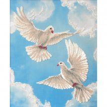 Kit de broderie avec perles - Charivna Mit - Sur l'aile de l'amour