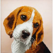 Kit de broderie avec perles - Charivna Mit - Beagle
