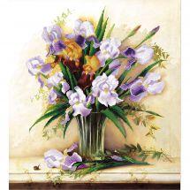 Kit de broderie avec perles - Charivna Mit - Ambiance lilas
