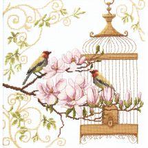 Kit point de croix - Charivna Mit - Le chant des oiseaux